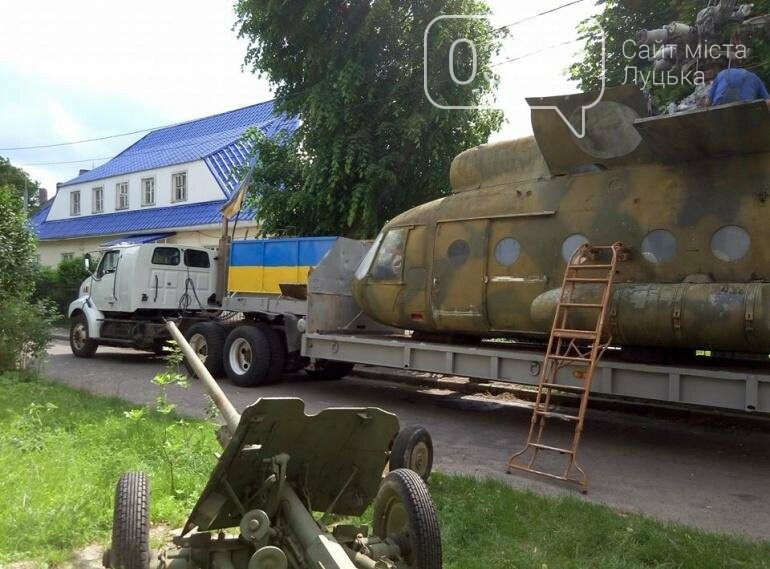 З луцького військового музею забрали на відновлення вертоліт та ракету (ФОТО), фото-7