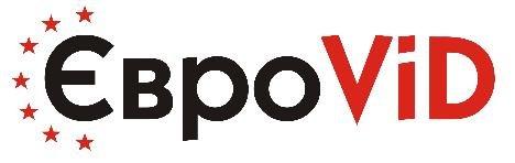 Логотип - ЄвроViD  вікна, двері, меблі