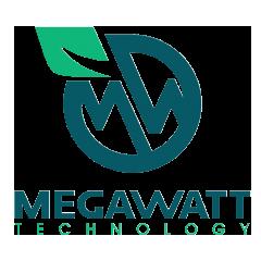 Логотип - Megawatt Technology, проектування,продаж, будівництво та обслуговування СОНЯЧНИХ ЕЛЕКТРОСТАНЦІЙ