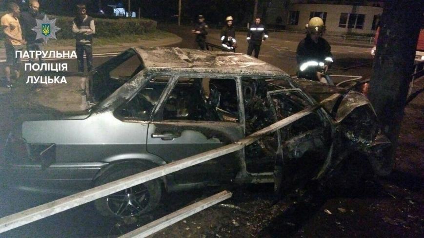 Після ДТП у Луцьку згорів автомобіль (ФОТО), фото-1