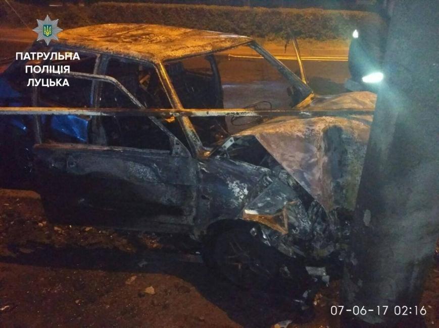 Після ДТП у Луцьку згорів автомобіль (ФОТО), фото-2