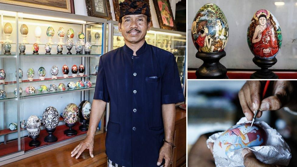Розмальовування яєць для Ваяна Сандри прибутковий бізнес на острові Балі
