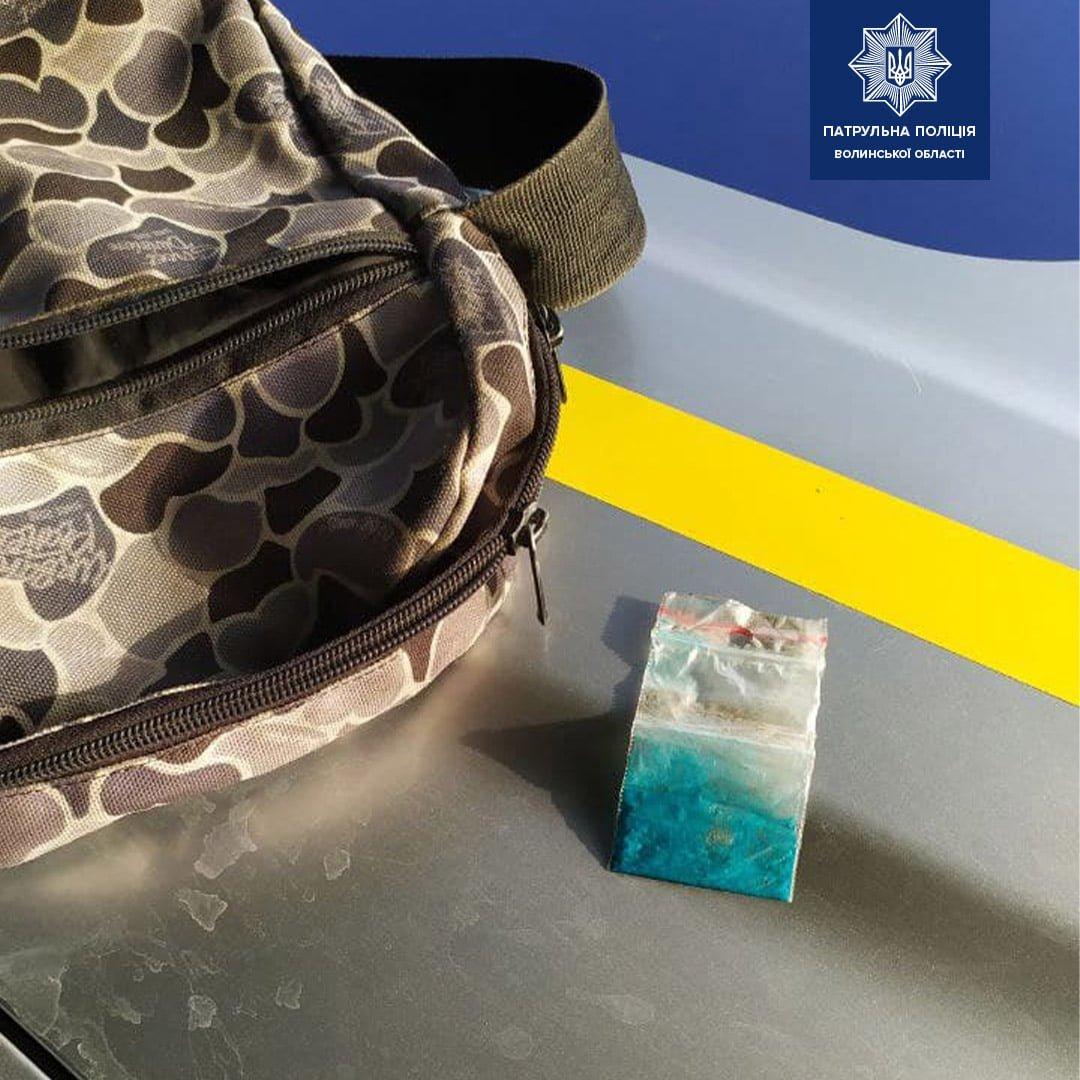 Волинські ТОРівці виявили у чоловіка, ймовірно, наркотичну речовину, фото-1