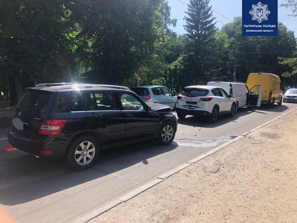 У Луцьку сталася ДТП за участі чотирьох авто, фото-1